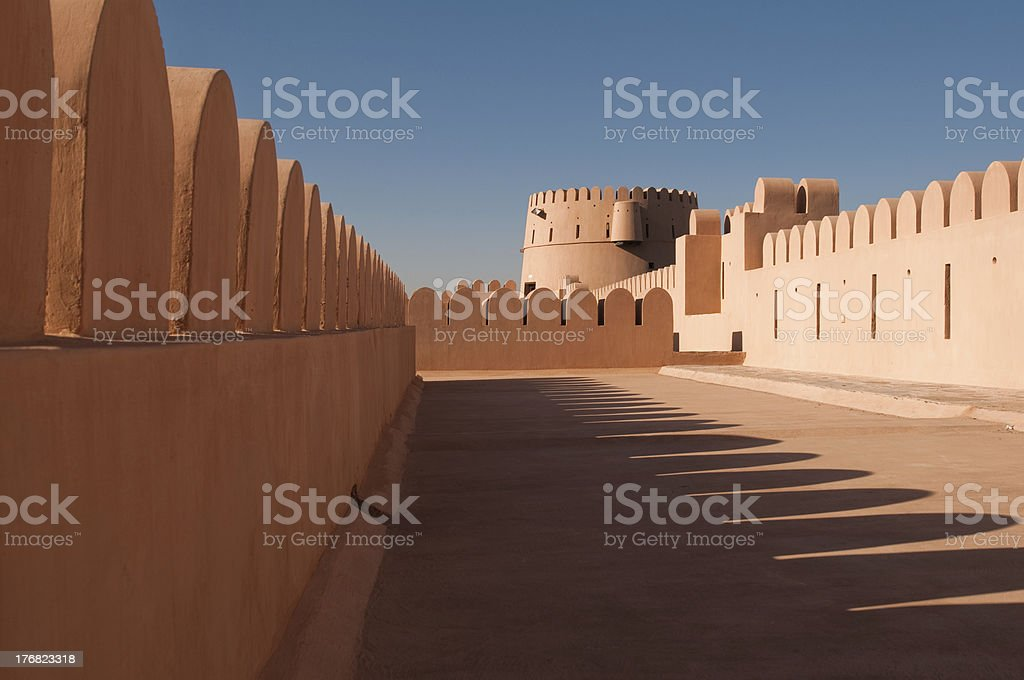 Fortress in the desert stock photo