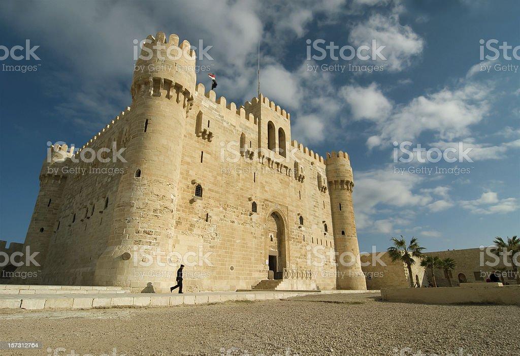fortress Kait-Bay in Alexandria stock photo