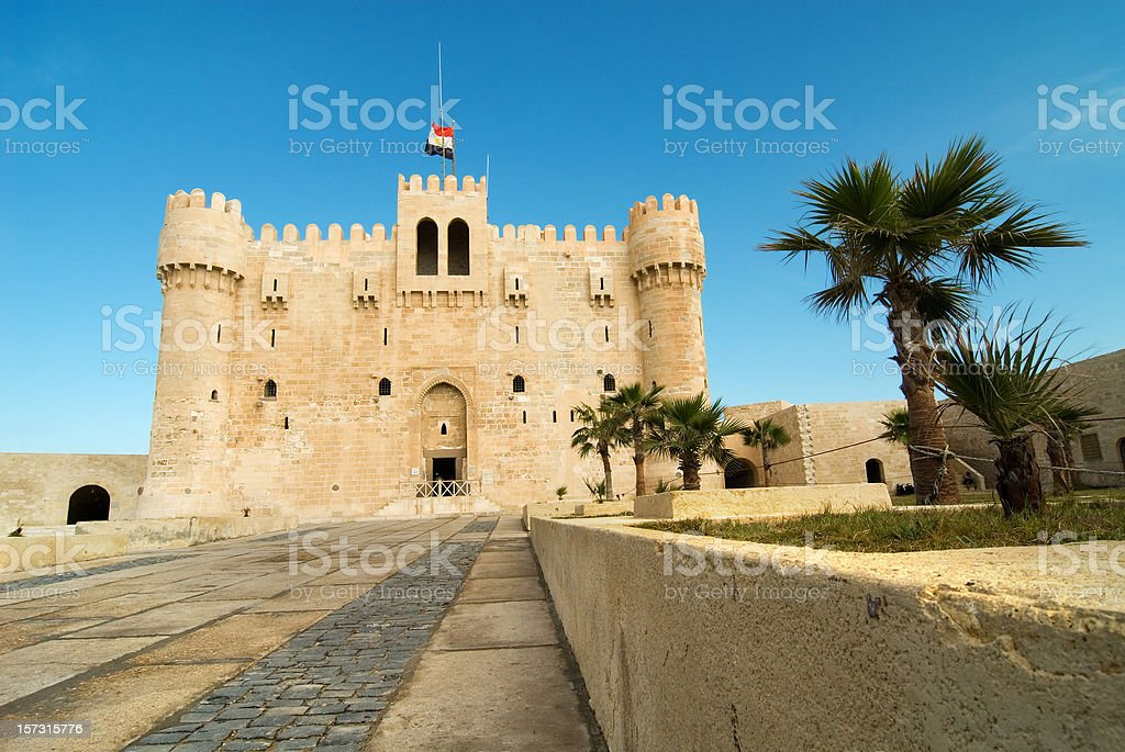 fortress Kait-bay stock photo