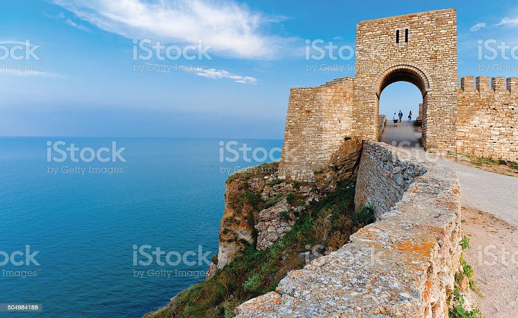 Fortress Kaliakra Black sea Bulgaria stock photo