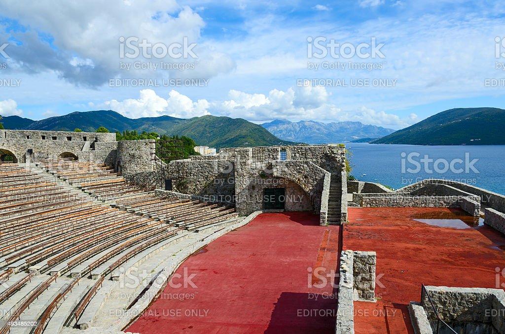 Fortress Kanli Kula (Bloody Tower), Herceg Novi stock photo