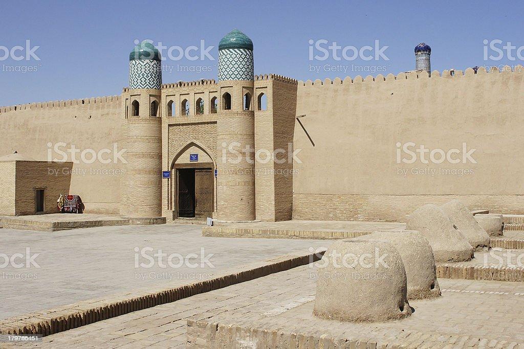 Fortress, Khiva, Uzbekistan royalty-free stock photo