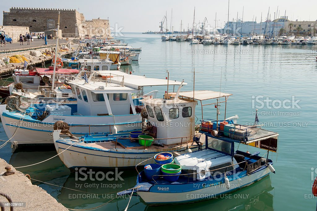 Fortress KOULES in Heraklion stock photo