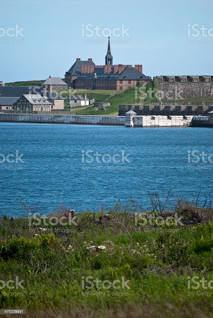 Fortress Louisbourg stock photo