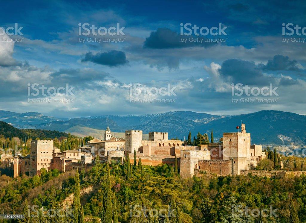 Fortress of Alhambra. Granada, Spain stock photo
