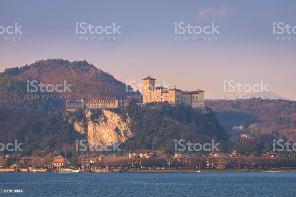 Fortress of Angera stock photo