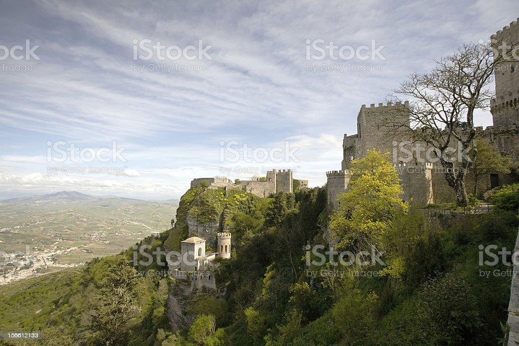 fortress of Erice stock photo