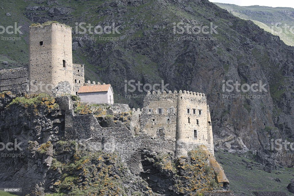 Fortress of Khertvisi in Georgia royalty-free stock photo