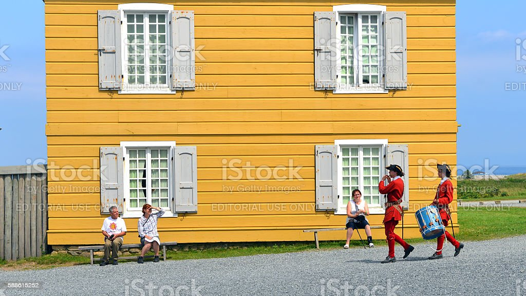 Fortress of Louisbourg stock photo