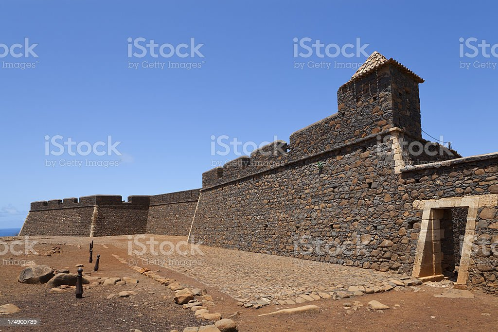 Fortress of S. Filipe stock photo