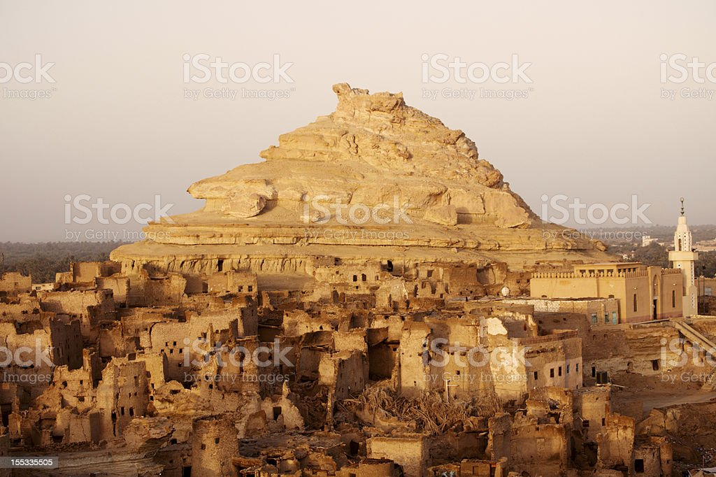 Fortress of Shali (Schali ) the old Siwa Town stock photo