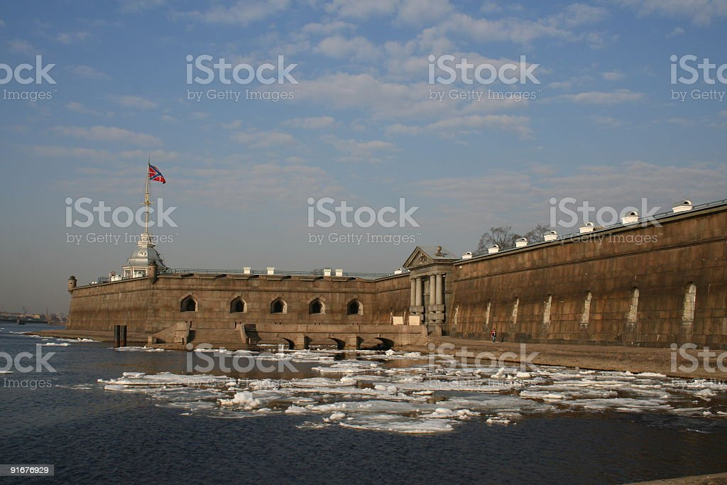 Fortress of St Peter and Paul in Saint Petersburg royalty-free stock photo