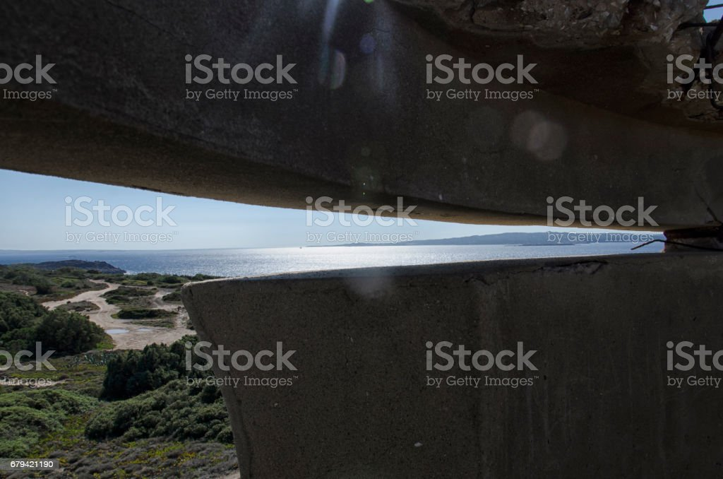 Fortress of WWII stock photo