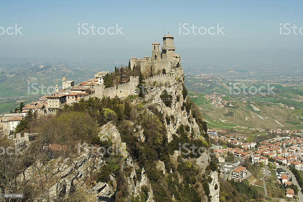 fortress on a cliff stock photo