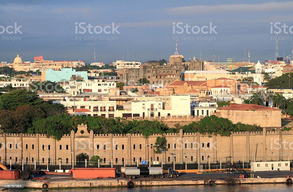 Fortress Osama and colonial quarter. Santo Domingo, Dominicana stock photo