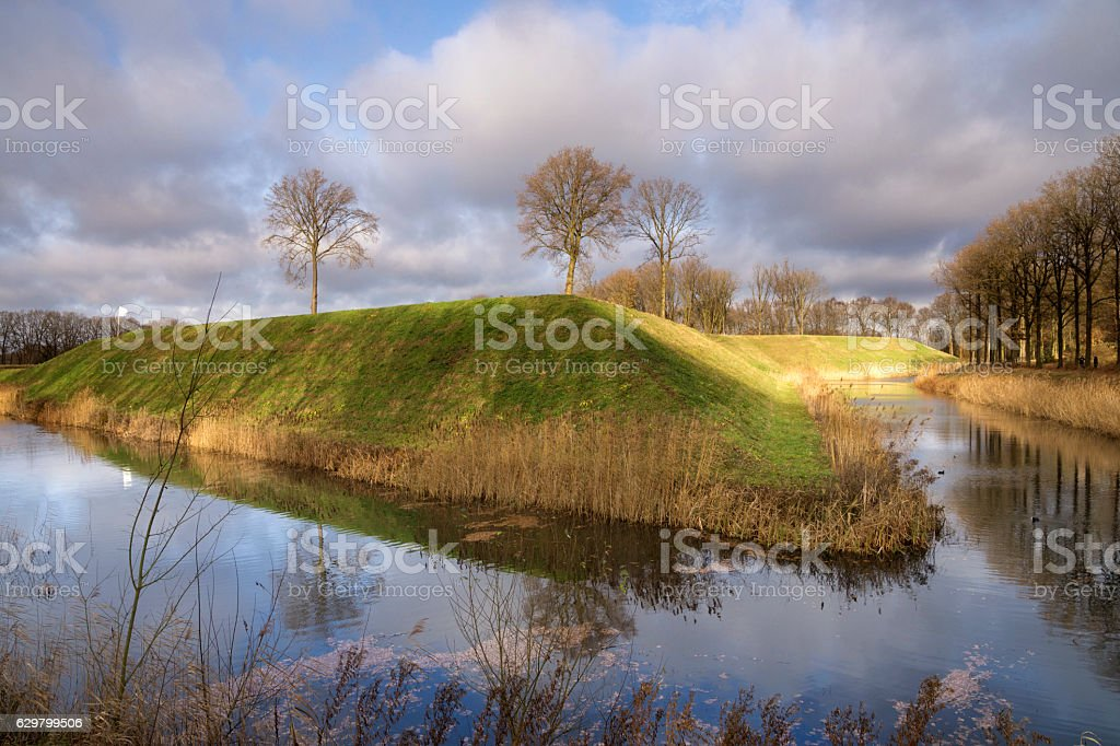 Fortress the Roovere near Halsteren stock photo