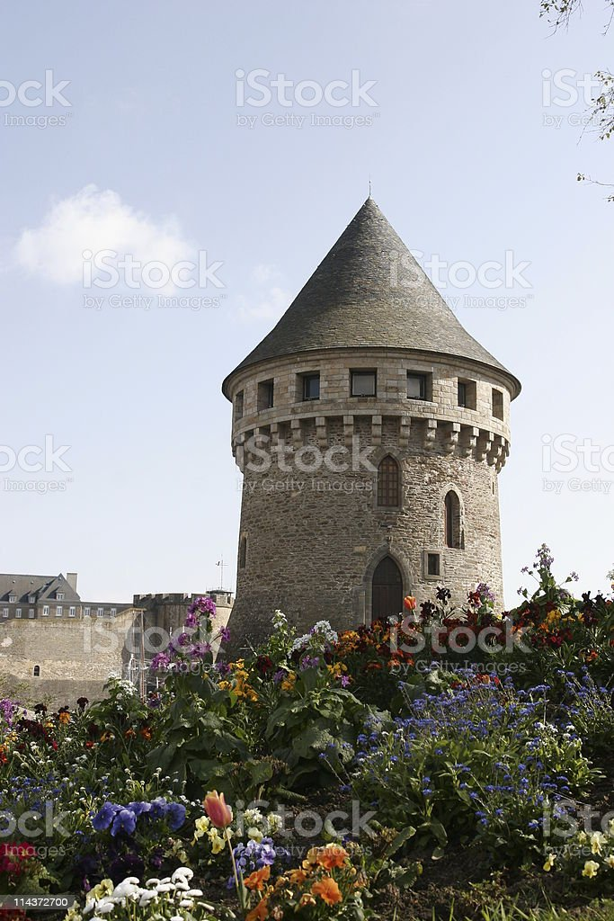 fortress tower stock photo