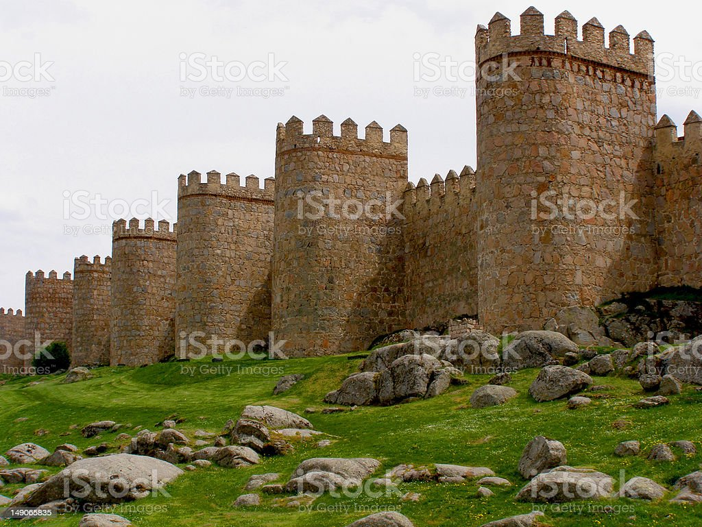 Fortress Wall stock photo