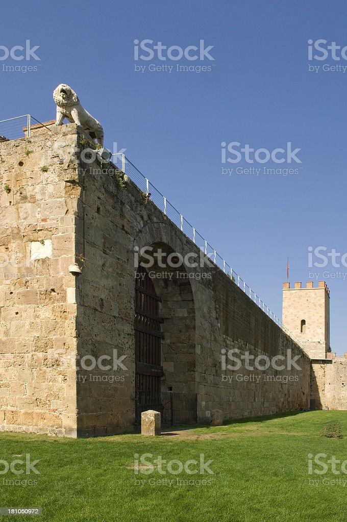 fortress wall, Pisa, Italy royalty-free stock photo