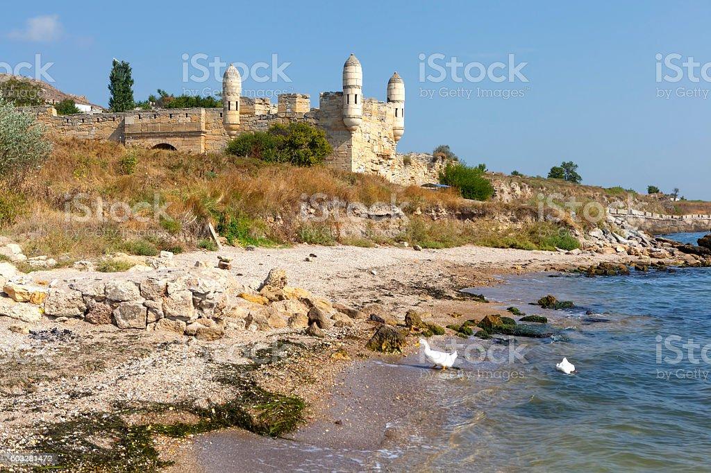 Fortress Yenikale. Kerch. Crimea. stock photo