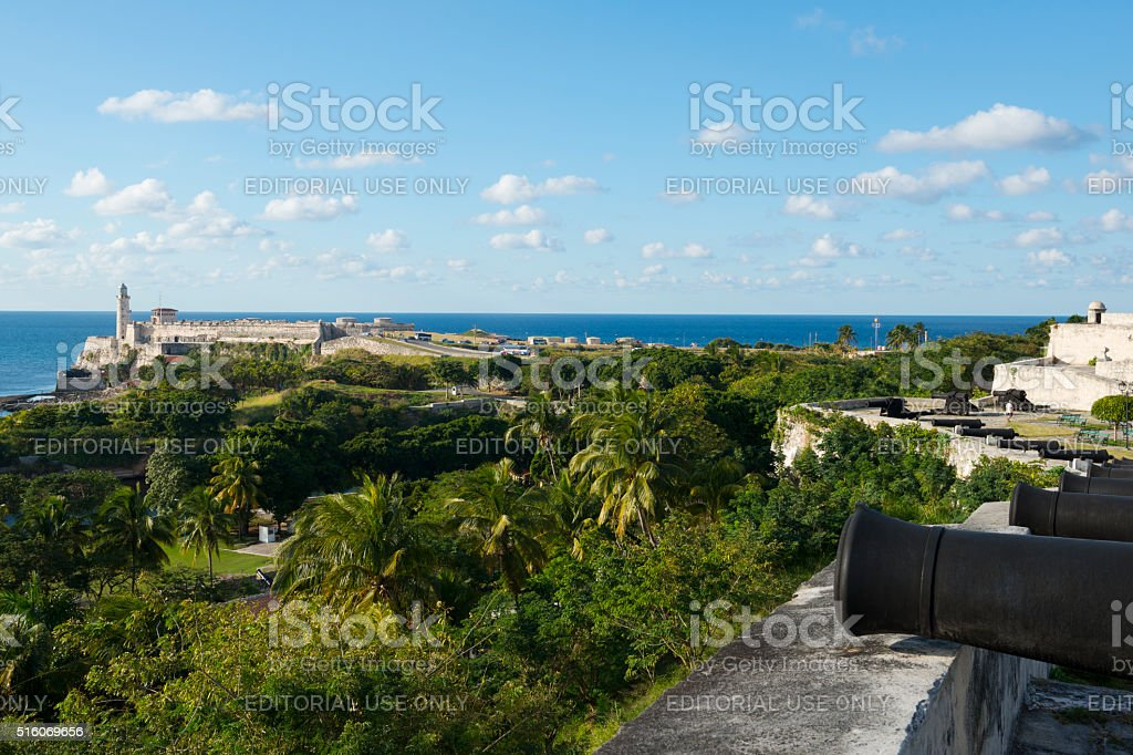 Forts in Havana, Cuba stock photo