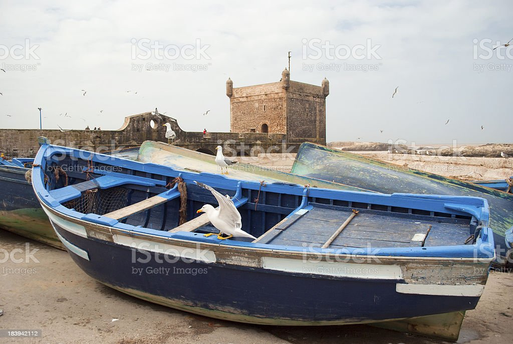 Forttress in Essaouira stock photo