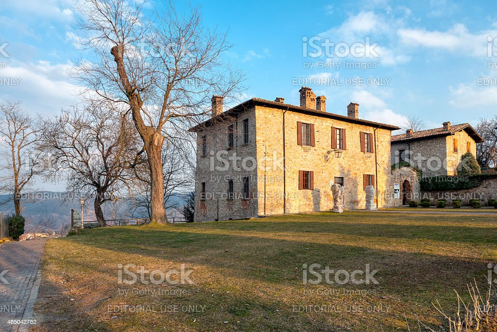Fortunago, Oltrepo Pavese, old city view. Color image stock photo