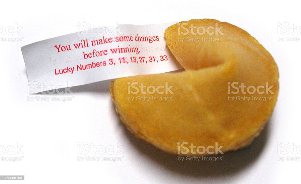 Fortune Cookie 3 royalty-free stock photo