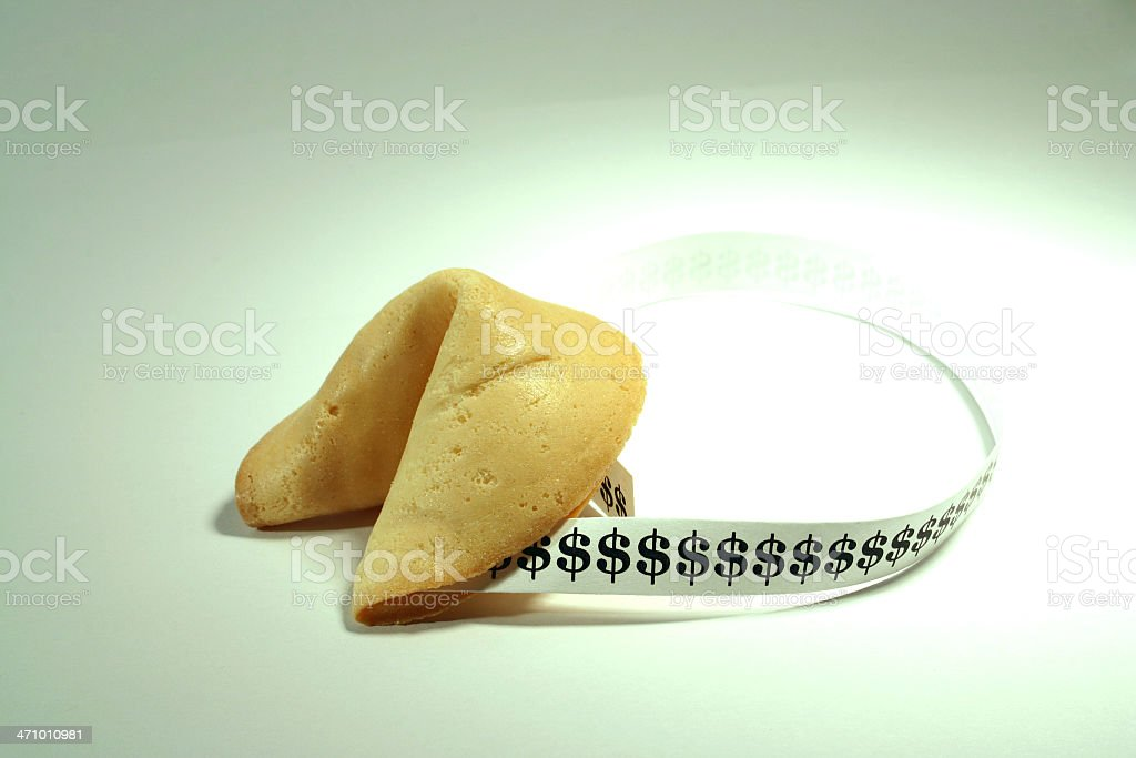 Fortune Cookie: Dollar Signs royalty-free stock photo