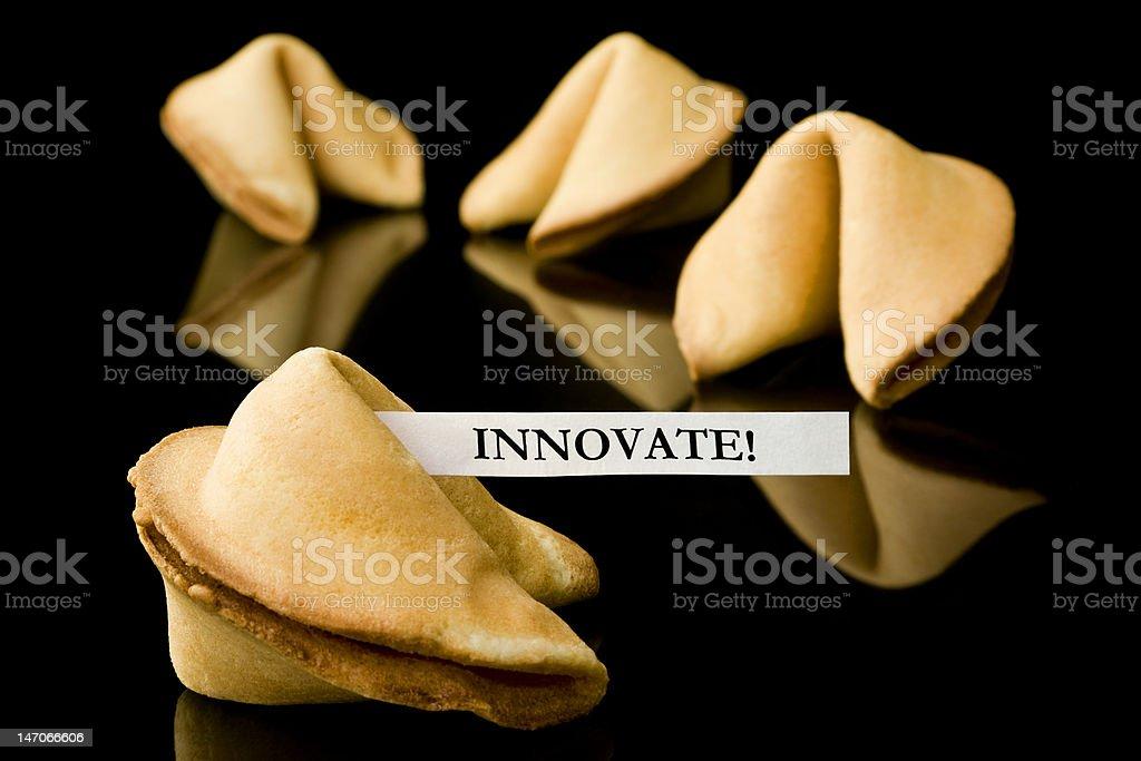 """Glückskeks: """"Innovation""""! Lizenzfreies stock-foto"""