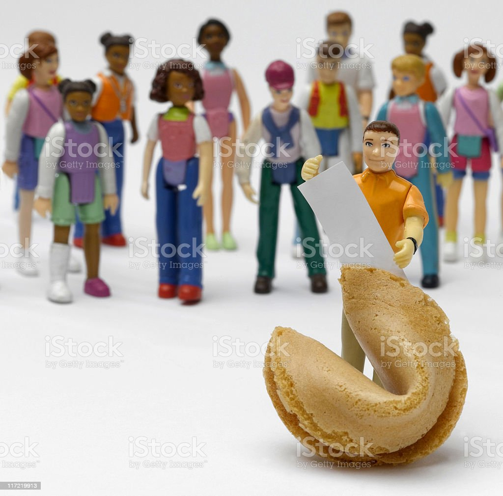 Fortune cookie man royalty-free stock photo