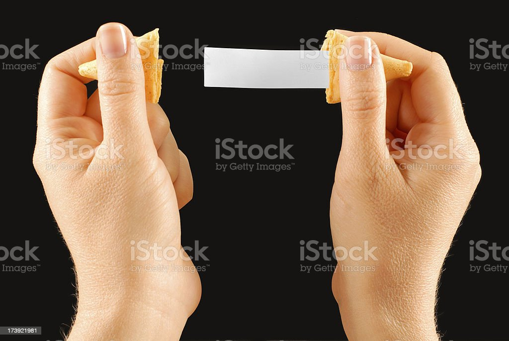 Fortune Cookie Message royalty-free stock photo