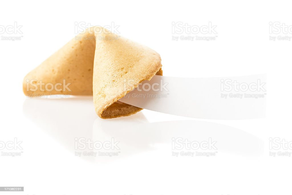 Fortune cookie on white background stock photo
