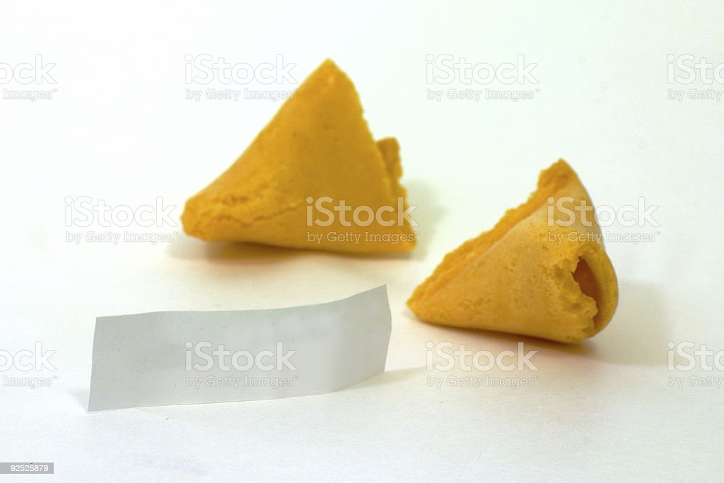 Fortune Cookie Opened 1 royalty-free stock photo