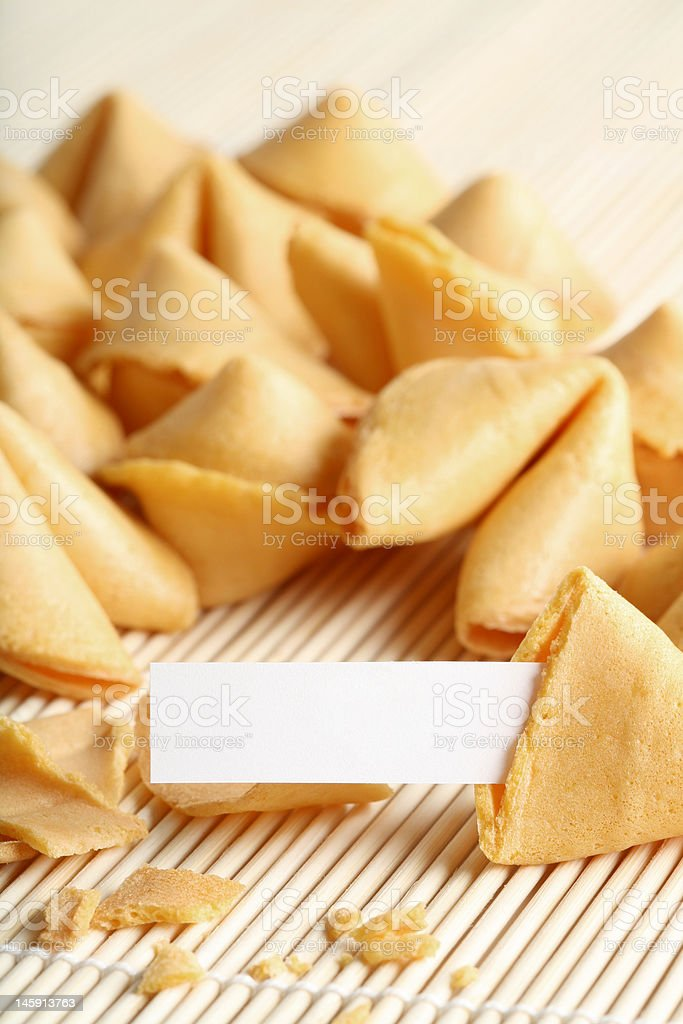 fortune cookie royalty-free stock photo