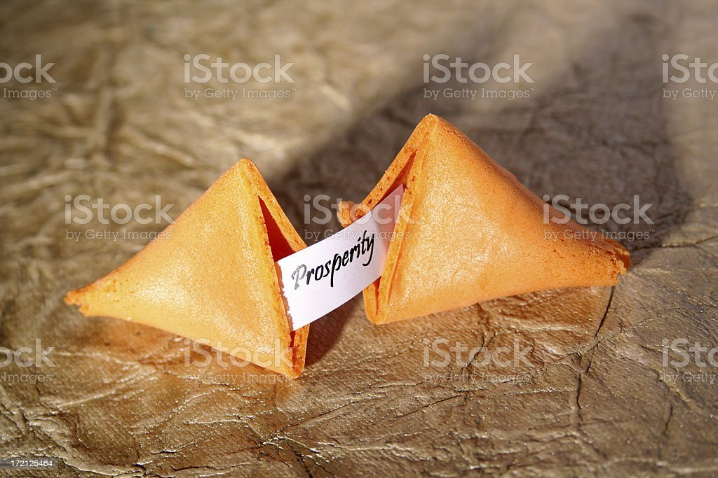 Fortune cookie (Prosperity) royalty-free stock photo
