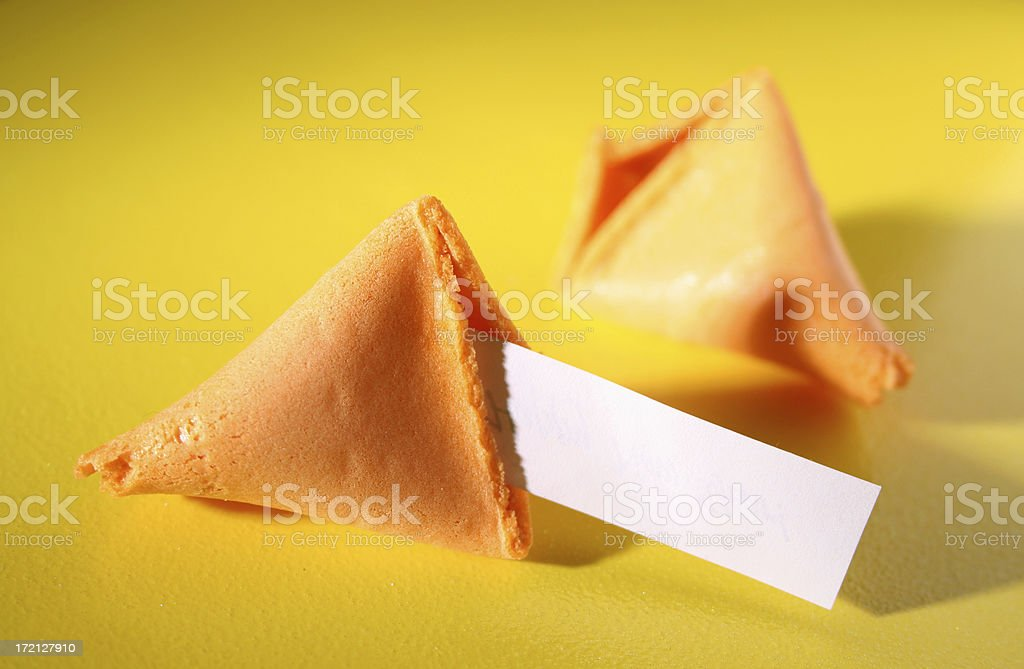 Fortune cookie (yellow) royalty-free stock photo