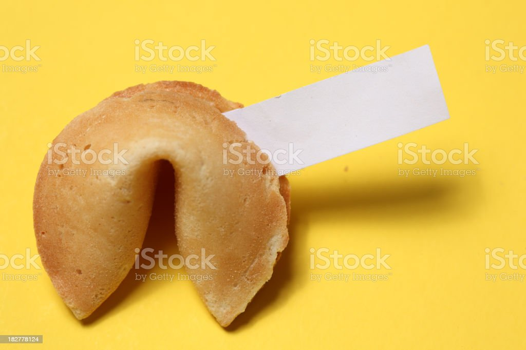 Fortune cookie stock photo