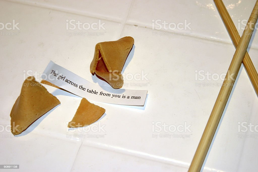 fortune cookie #5 royalty-free stock photo