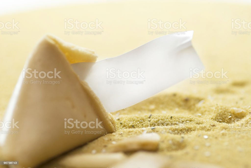 fortune cookie with copyspace royalty-free stock photo