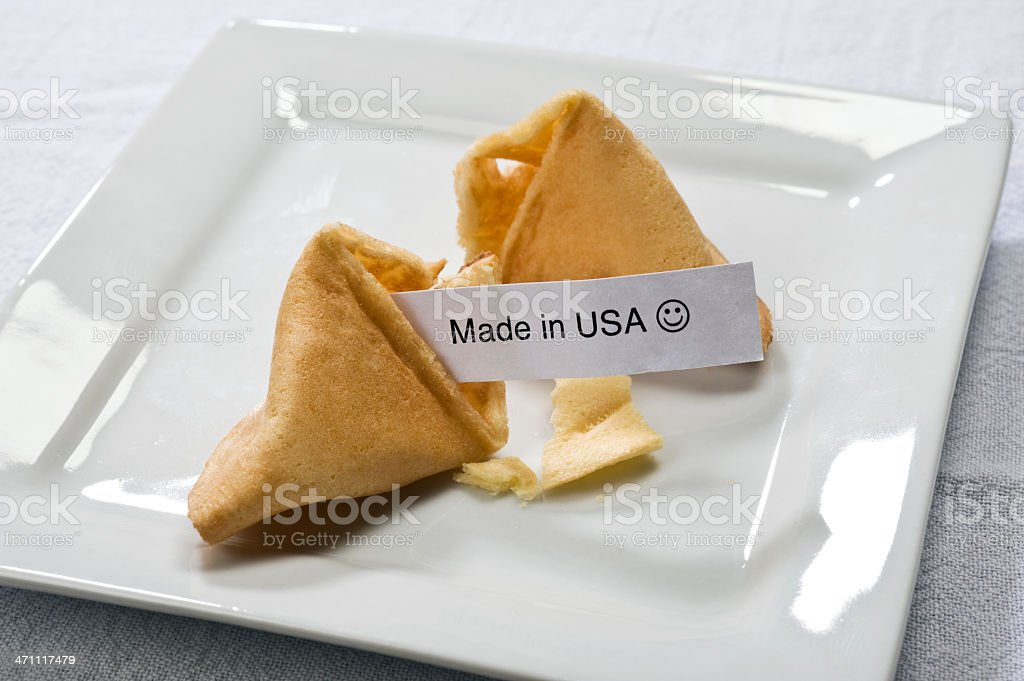 Fortune Cookie with Message royalty-free stock photo