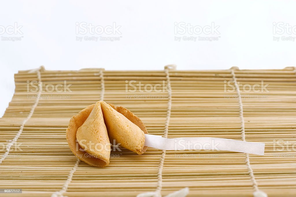 fortune cookie with text area royalty-free stock photo
