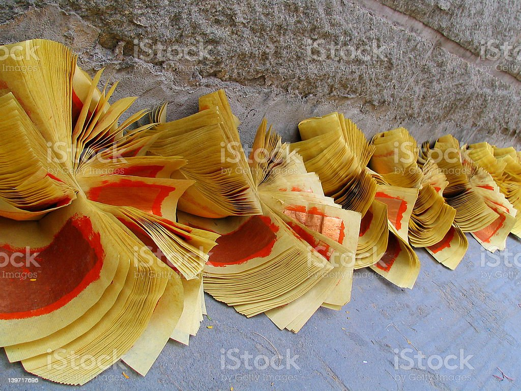 Fortune Paper to burn royalty-free stock photo