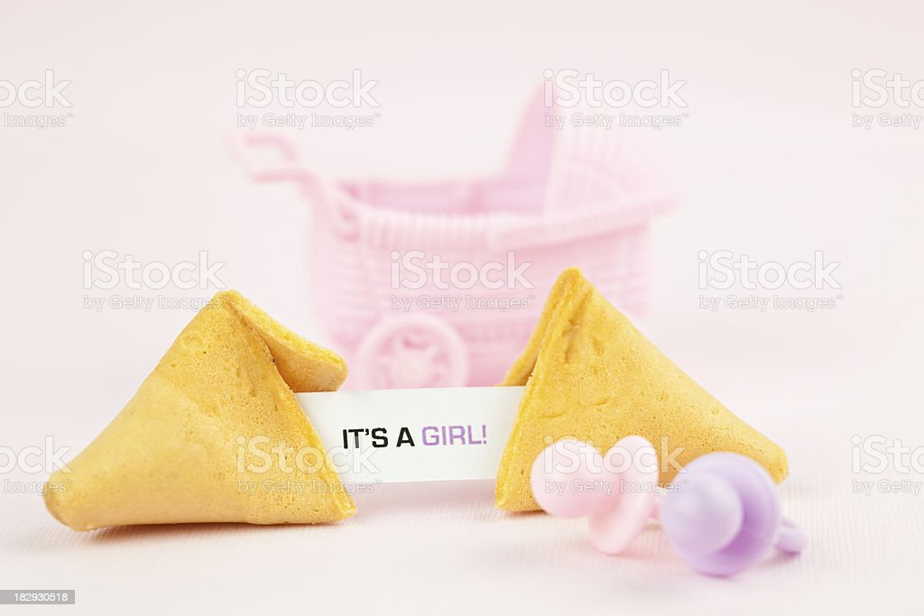 Fortune Series It's a Girl! royalty-free stock photo