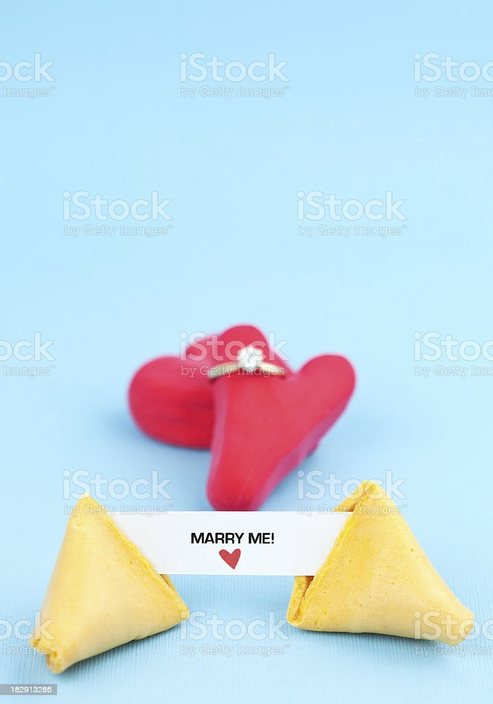 Fortune Series Marry Me! royalty-free stock photo