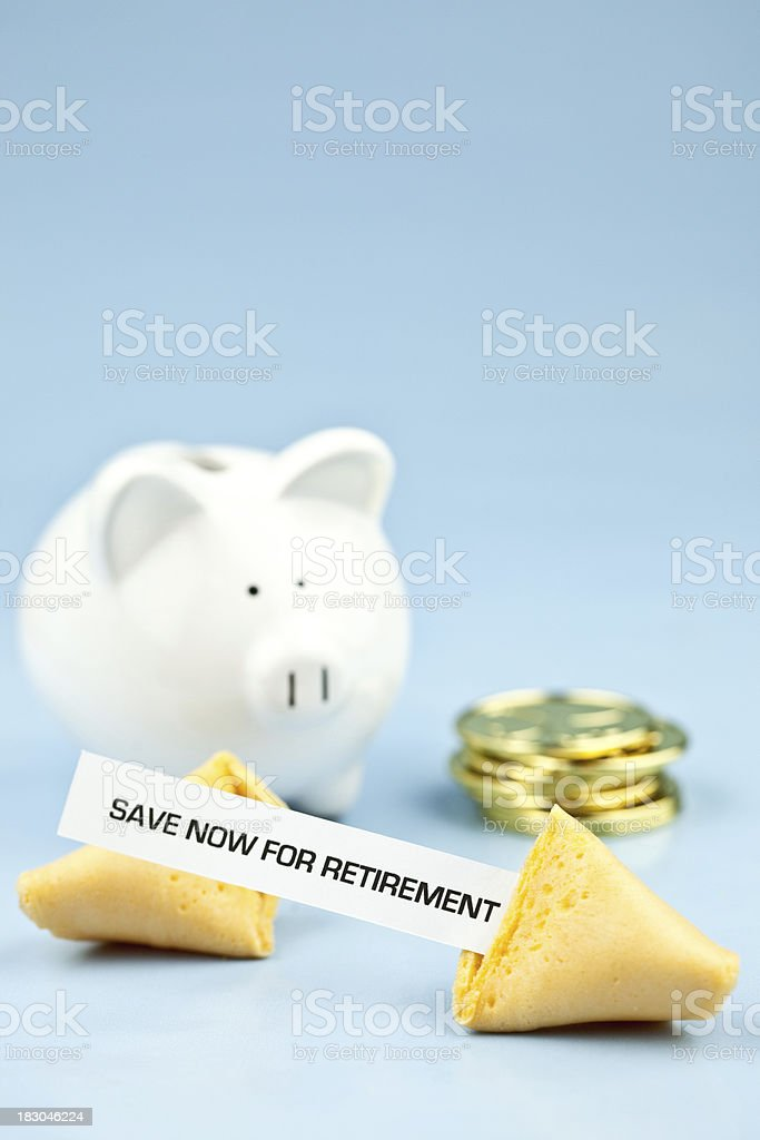 Fortune Series Retirement royalty-free stock photo