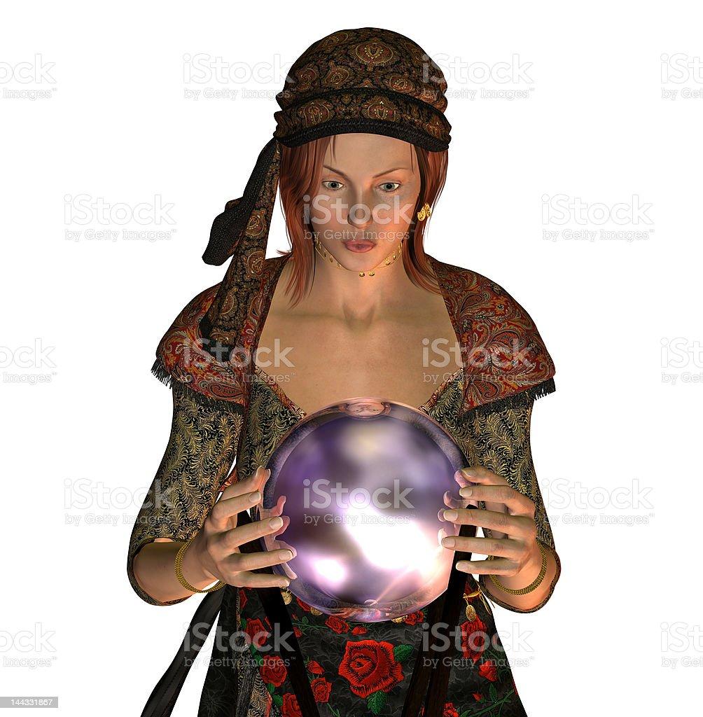 Fortune Teller Gypsy royalty-free stock photo