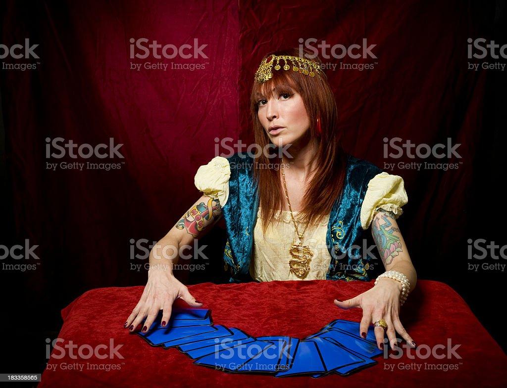 Fortune Teller & Tarot Cards stock photo