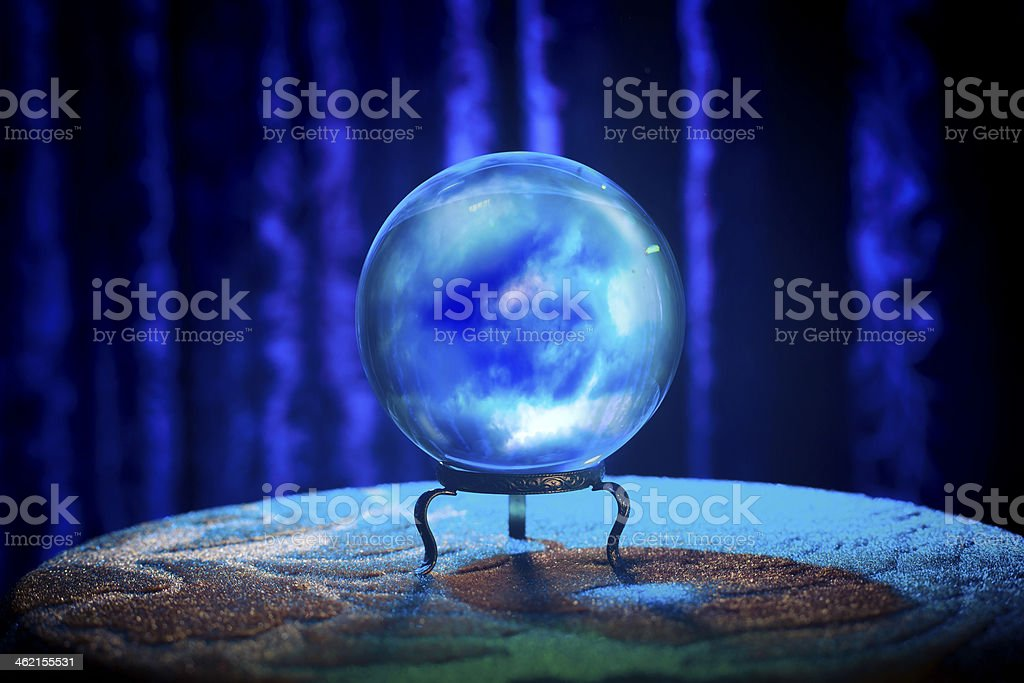 Fortune teller's Crystal Ball with dramatic lighting royalty-free stock photo