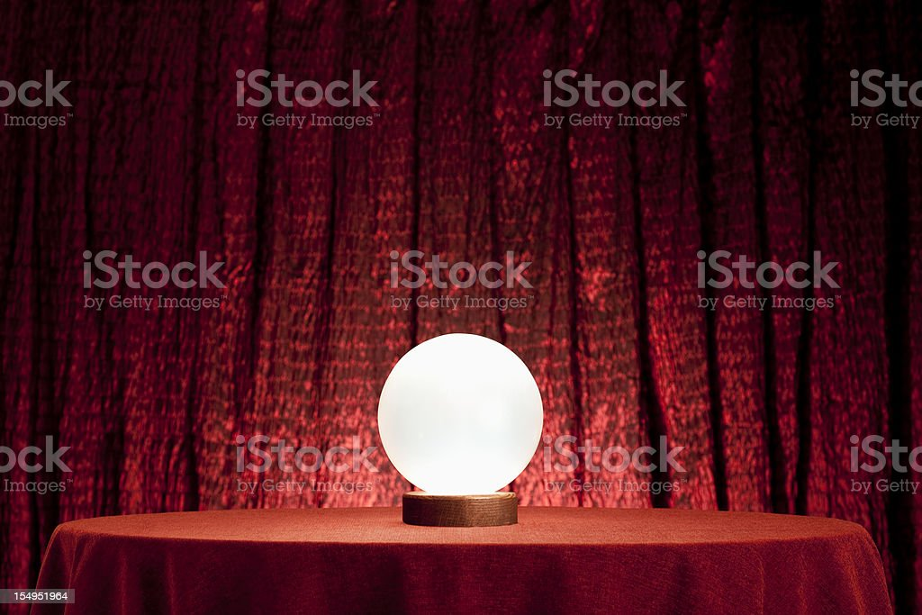 Fortune Teller's Crystal Ball. XXXL stock photo
